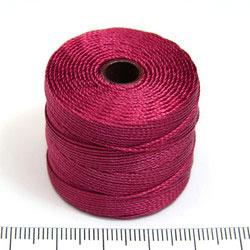 S-lon bead cord dark red (röd)