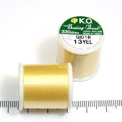 K.O. tråd för pärlsömnad gul