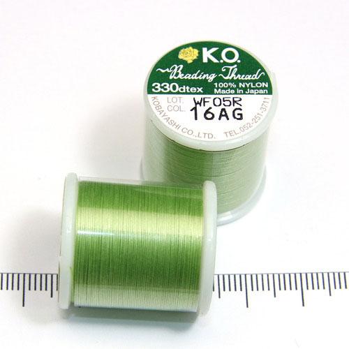 K.O. tråd för pärlsömnad äppelgrön
