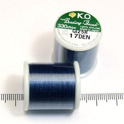 K.O. tråd för pärlsömnad jeansblå - Utgående vara