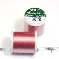 K.O. tråd för pärlsömnad rosa
