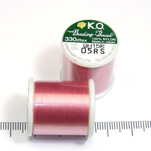 K.O. tråd för pärlsömnad rosa - Utgående vara