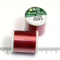 K.O. tråd för pärlsömnad röd