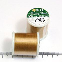 K.O. tråd för pärlsömnad guldbrun