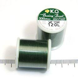 K.O. tråd för pärlsömnad olivgrön - Utgående vara