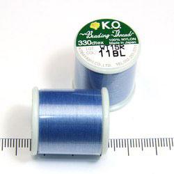 K.O. tråd för pärlsömnad ljusblå