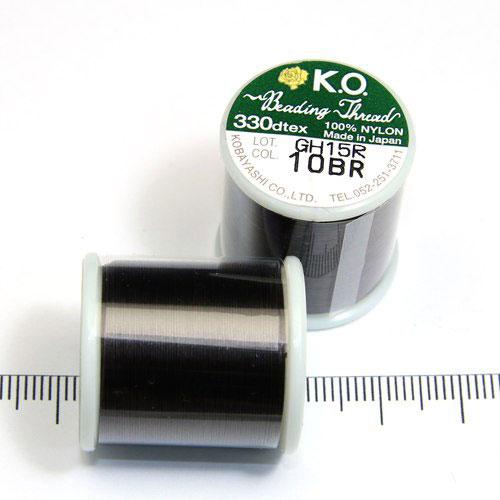 K.O. tråd för pärlsömnad mörkbrun - Utgående vara