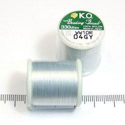 K.O. tråd för pärlsömnad ljusgrå