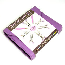 Beadsmith verktygsset 8 verktyg med fodral, lila