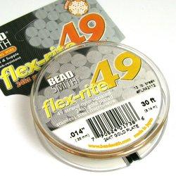 Smyckevajer FlexRite 49-trådars 0,45 mm guldpläterad