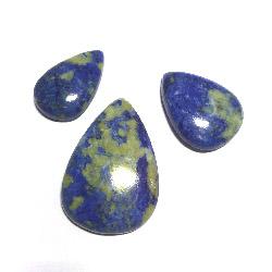Fyndparti: Cabochoner i lapis lazuli 3 st, ca 2 -3,5 cm