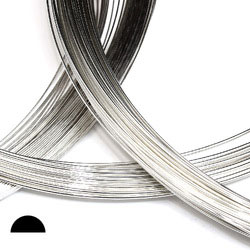 Halvrund silvertråd 0,7 mm sterling silver