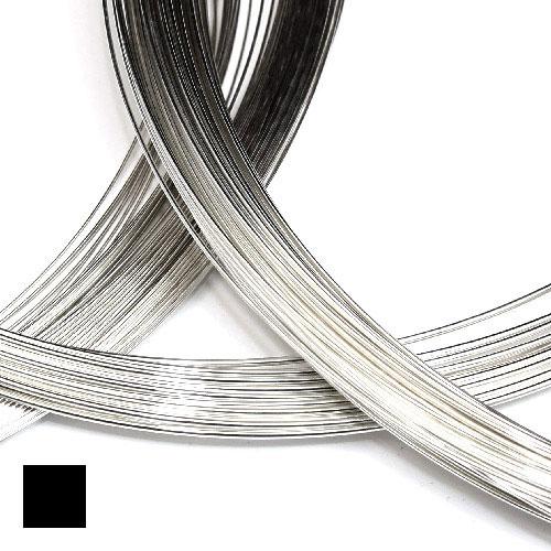Fyrkantig silvertråd 1,0 mm sterling silver