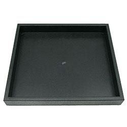 Stapelbar bricka 21 x 18 x 2,5 cm svart plast - Utgående vara